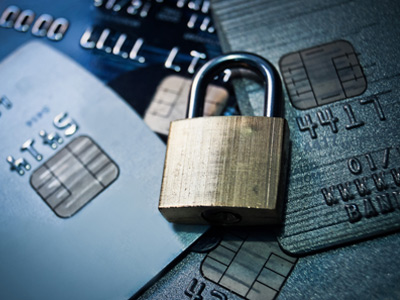 ID Protection | padlock and credit cards