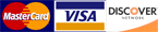 Visa, MasterCard, Discover accepted only